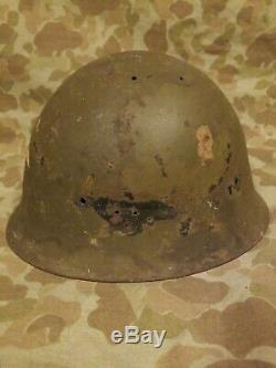 WWII Imperial Japanese Helmet with Markings Army Naval Landing Forces Pacific War