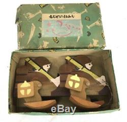 WWII Japanese Childs Wood Imperial Army Soldiers Pull Toy In Original Box