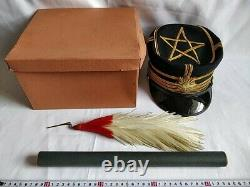 WWII Japanese Military Imperial Soldier's Dress uniform Hat Cap Boxed set-c1229