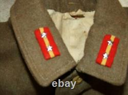 WWII Military Uniform IMPERIAL JAPANESE Army GREEN Wool JACKET with BADGES Pins