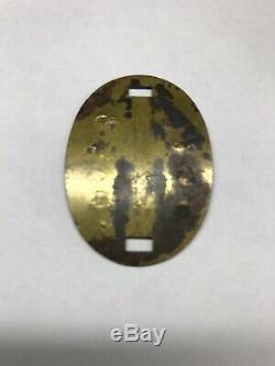 WWII WW2 Imperial Japanese IJA Army Brass ID Disc Dog Tag
