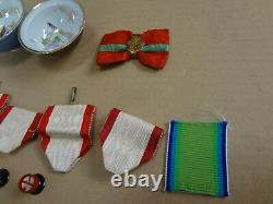 WWII japanese imperial rising china red rising etc medal set ARMY NAVY BADGE