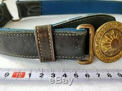 World War 2 WWII Japanese Military Imperial Soldier's buckle Belt-b1128
