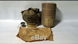 World war 2 WW II original imperial japanese gas mask pacific war 1942 fujikura