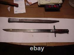 World war II imperial Japanese bayonet and scabbard by Toyoda Automatic Loom
