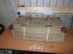 Ww2 Imperial Japanese Army Officers Suit Case, Leather Rattan And Canvas