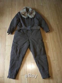 Ww2 Imperial Japanese Winter Fur Flight Suit. Excellent