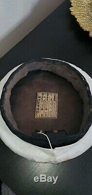 Ww2 Japanese Imperial Navy Cap With Cover Very Rare